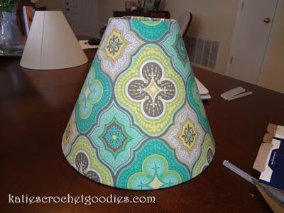 DIY: Recovering Lamp Shades - Katie's Crochet Goodies