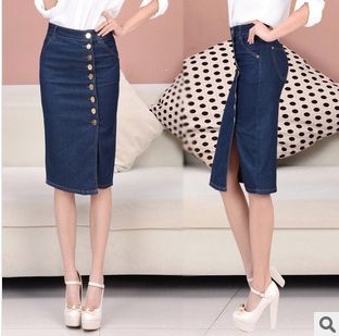 jupe crayon jeans id es pinterest jupe crayon crayons and pencil skirts. Black Bedroom Furniture Sets. Home Design Ideas