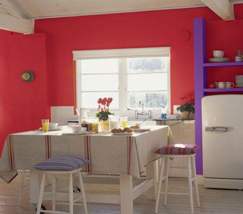 associer la couleur violet dans la chambre le salon la cuisine - Associer Les Couleurs Dans Une Cuisine