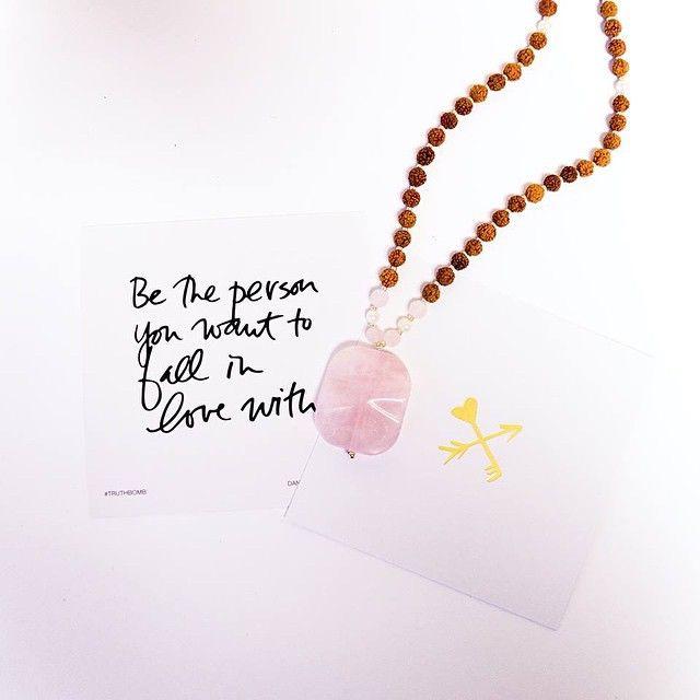 shop.lovetinydevo... #quotes #yoga #heart #love #inspiration #wisdom #positive #mala #beads #malabeads #tinydevotions #tiny #devotions #cute #bohemian #freespirit #jewelry #silver #gold #accessories #trend #fashion #rosequartz #daniellelaporte #truthbombs