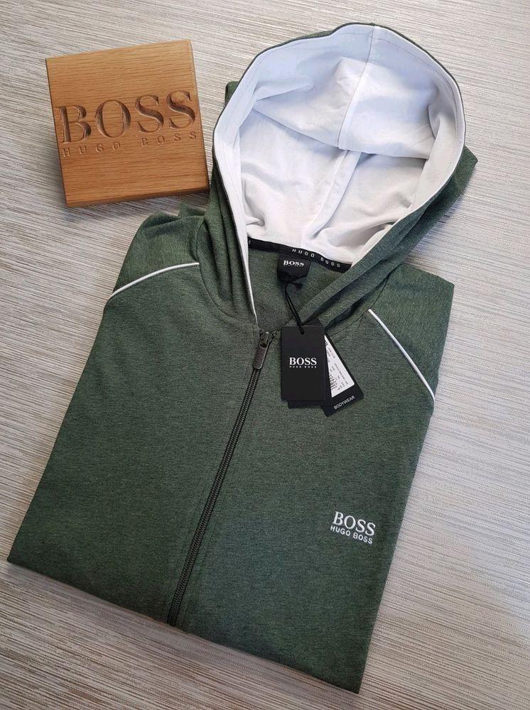 hugo boss khaki sweatshirt