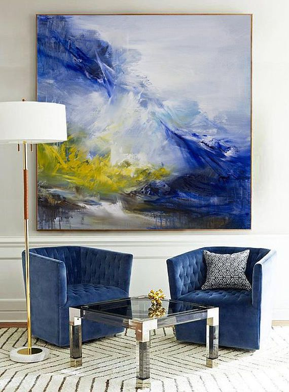Abstract Painting Contemporary Art Hand Paint Large Wall