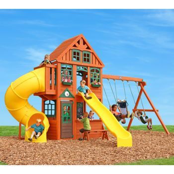 Cedar Summit Twin Mountain Lodge Playset   Do It Yourself