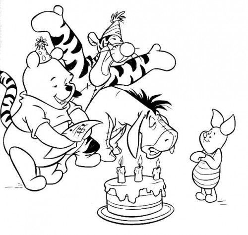 Winnie The Pooh Quotes Eeyore Quotes Piglet Quotes And Tigger Quotes Happy Birthday Coloring Pages Disney Coloring Pages Birthday Coloring Pages