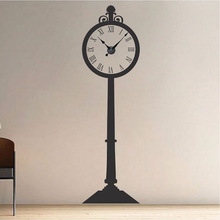 grandfather clock _ decals _ trendy wall designs | cool wall decals