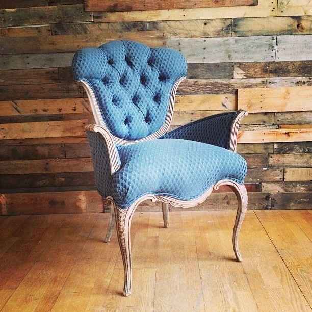 Sitting pretty with this c. 1900s Louis chair. One of the items that will be available at our opening! (at Lost and Found)