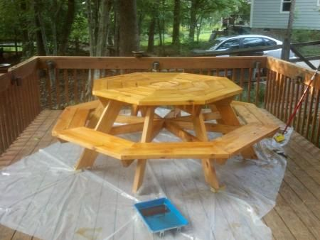 Octagon picnic table do it yourself home projects from ana white octagon picnic table do it yourself home projects from ana white outdoor furniture tutorials pinterest octagon picnic table ana white and picnic solutioingenieria Choice Image