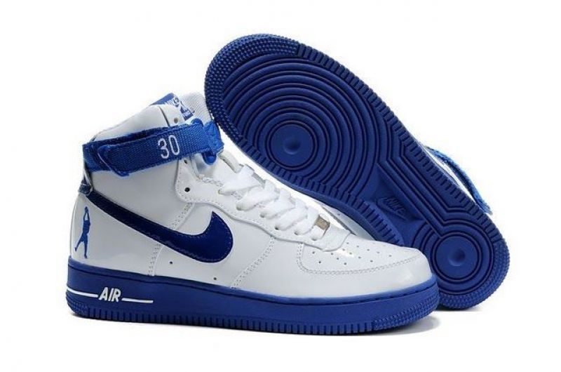 nike air force 1 mid blue white illustrated