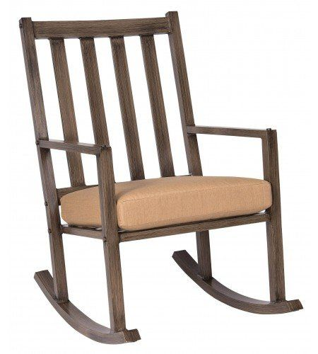 Woodard Woodlands Large Rocking Chair With Cushions U0026 Reviews | Wayfair