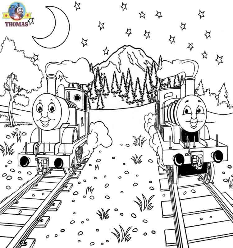 thomas tank stephen colouring pages page 2