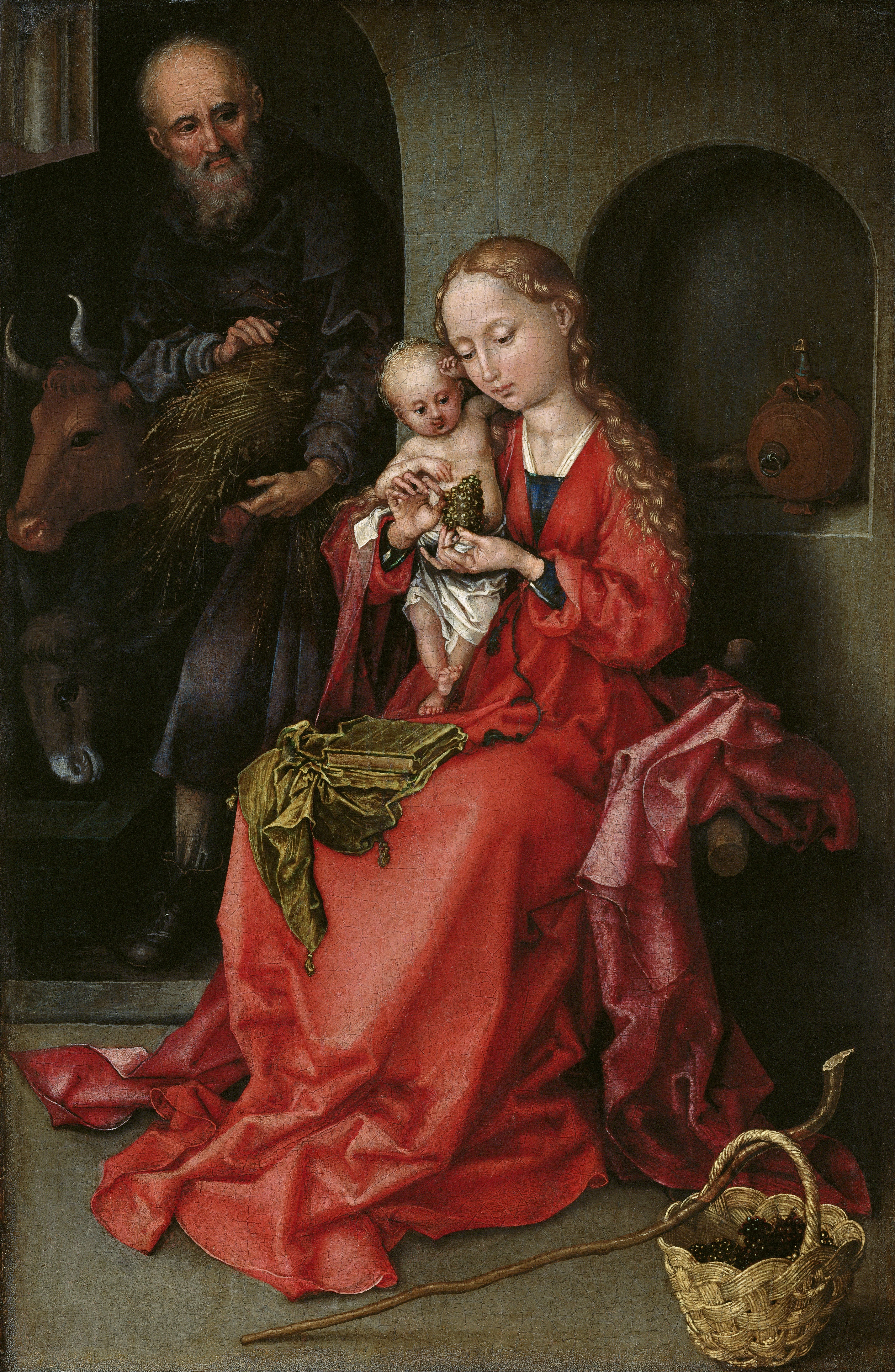 Martin Schongauer: The Holy Family. 1480-1490.