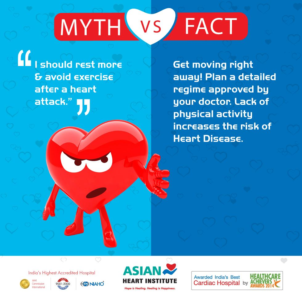 """Diseases Physical Ailments: #MYTH VS #FACT MYTH: """"I Should Rest More & Avoid Exercise"""