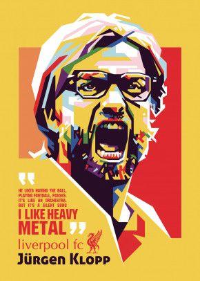 jurgen klopp by ICAL SAID | metal posters - Displate | Displate thumbnail