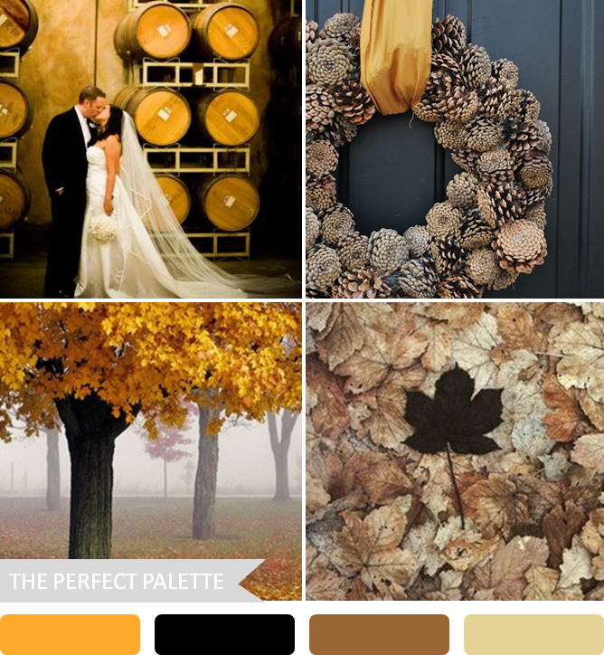 5 Fabulous Fall Color Palettes Color inspiration Weddings and