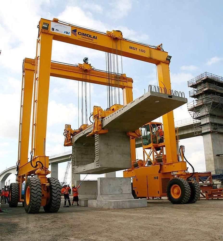 Gantry cranes provide economical material handling in
