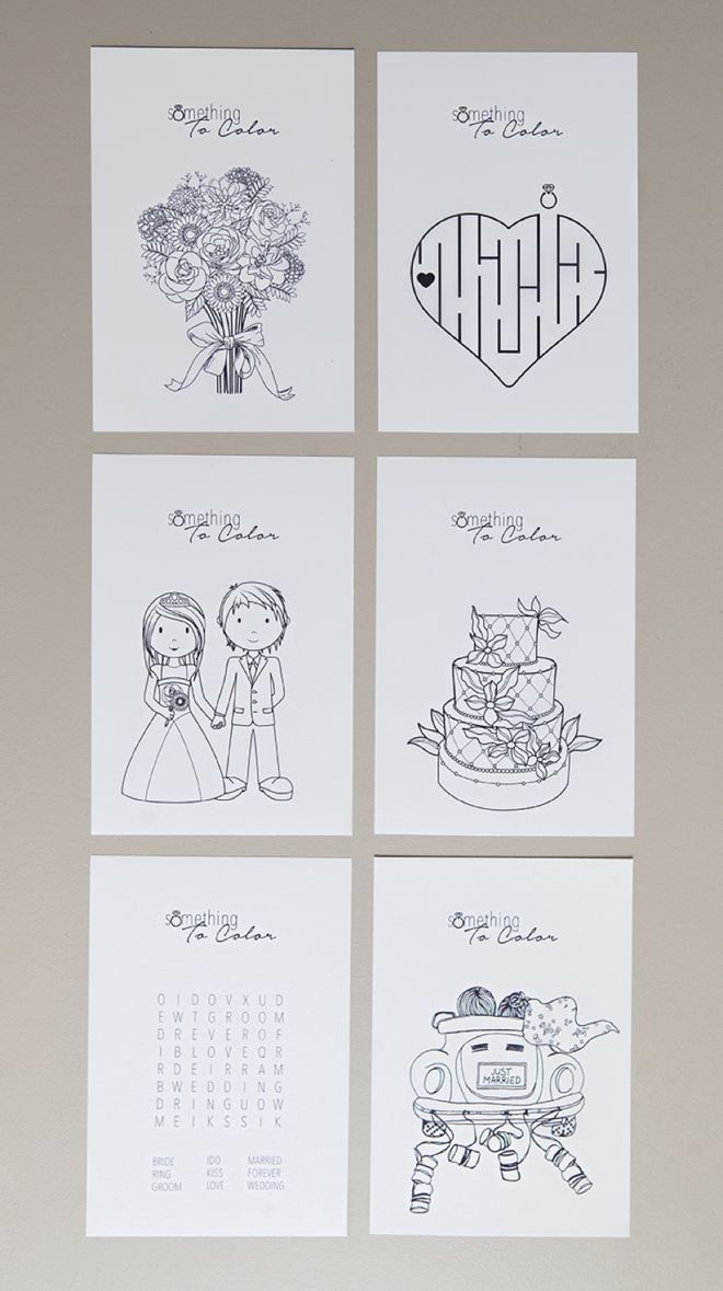 print these free coloring pages for the kids at your wedding - Coloring Packets