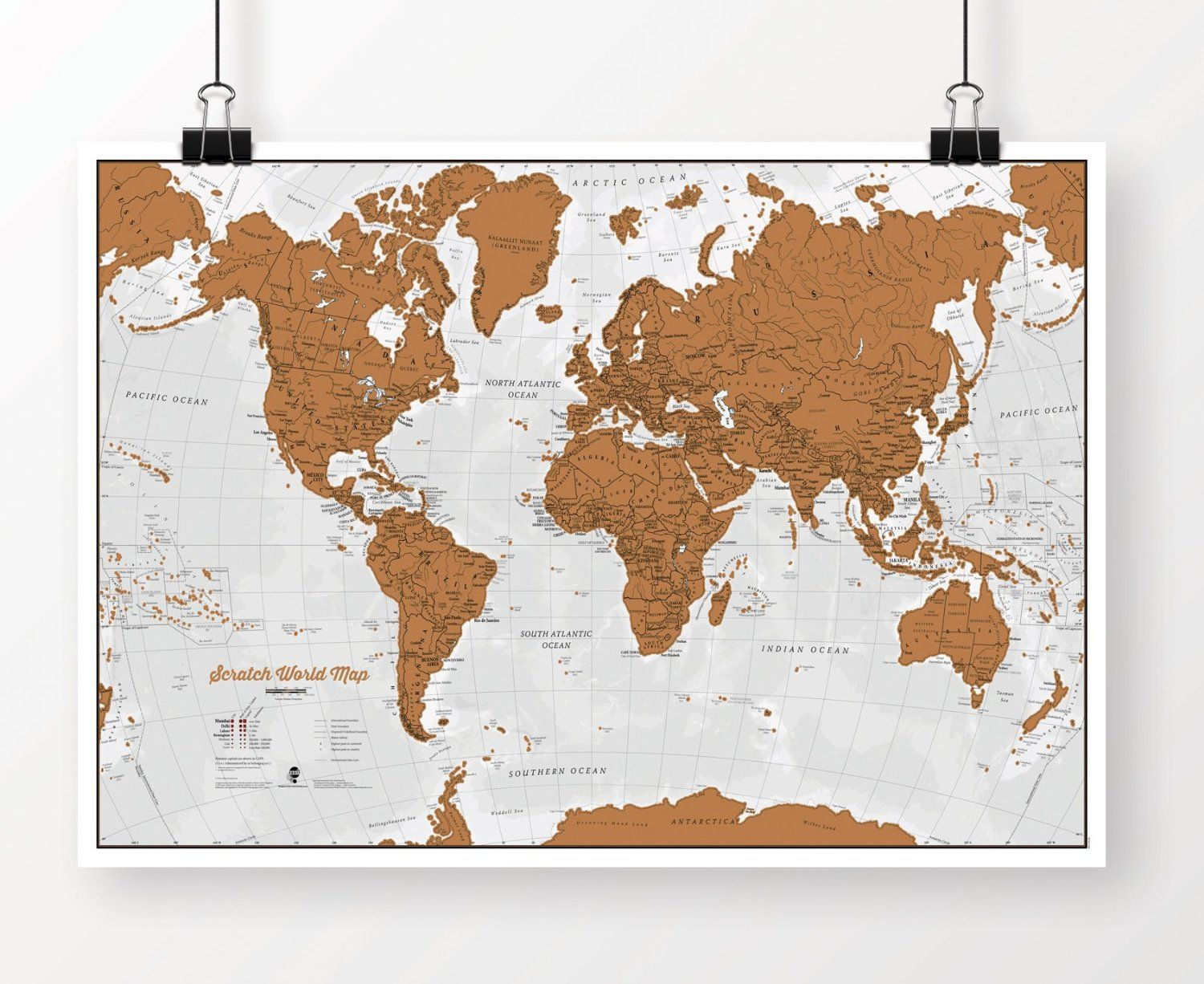 Amazon scratch world map scratch off places you travel amazon scratch world map scratch off places you travel office products gumiabroncs Image collections