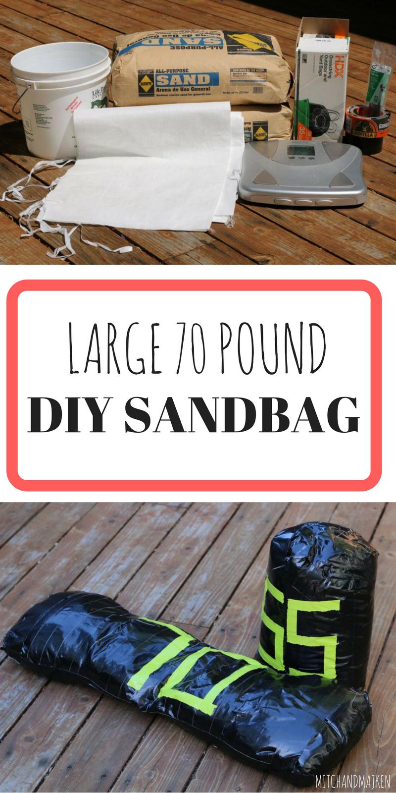 Find out how to make a 70 lb spartan race replica diycheap large 70 pound sandbag diy spartan race vegan food and fitness xflitez Images