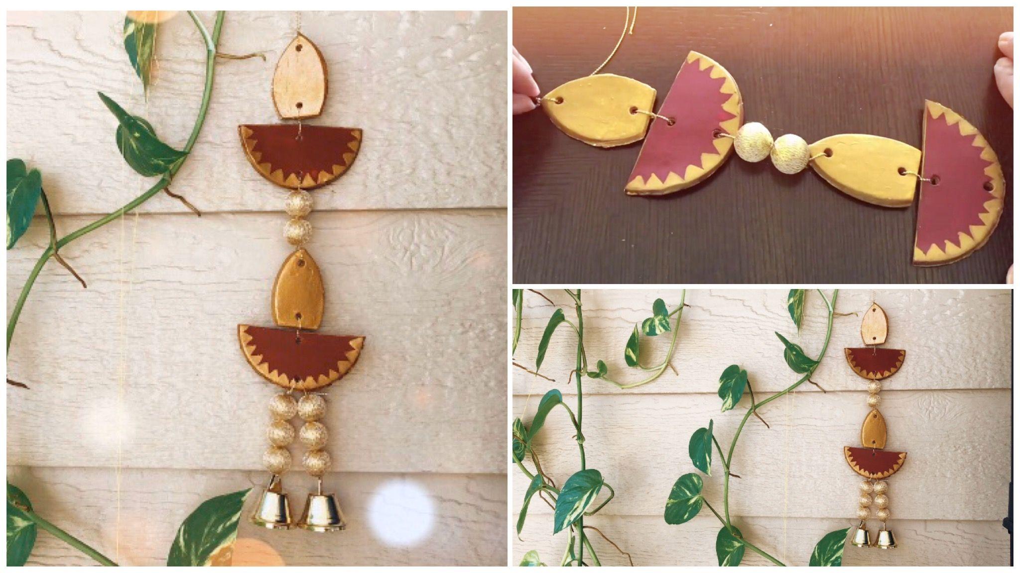 Air Dry Clay Wall Hanging For Diwali Decoration Diwali
