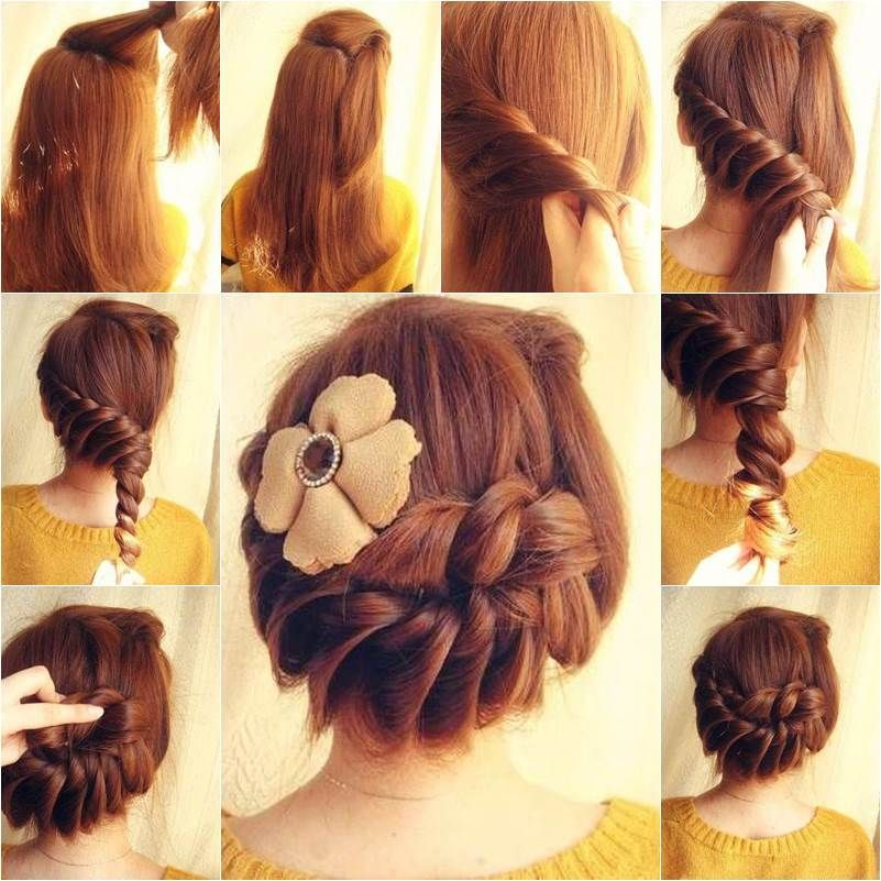 How to DIY Lovely Braided Hairstyle | Flower hair, Hair ...