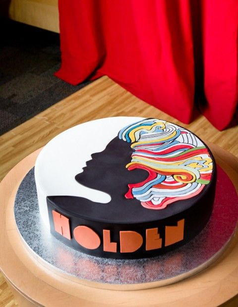 Milton Glaser Inspired Birthday Cake