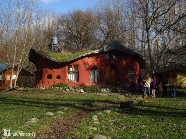 House Built Out Of Natural Materials : Many of us have lost our tradition community builds but