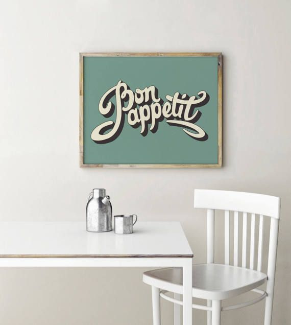 Bon Appetit Sign Bon Appetit Kitchen Decor By PrintablesbyOakHouse