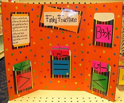 Better Bulletin Boards: Funky Fractions - this would be a great game when we do fractions...looks easy to make too!
