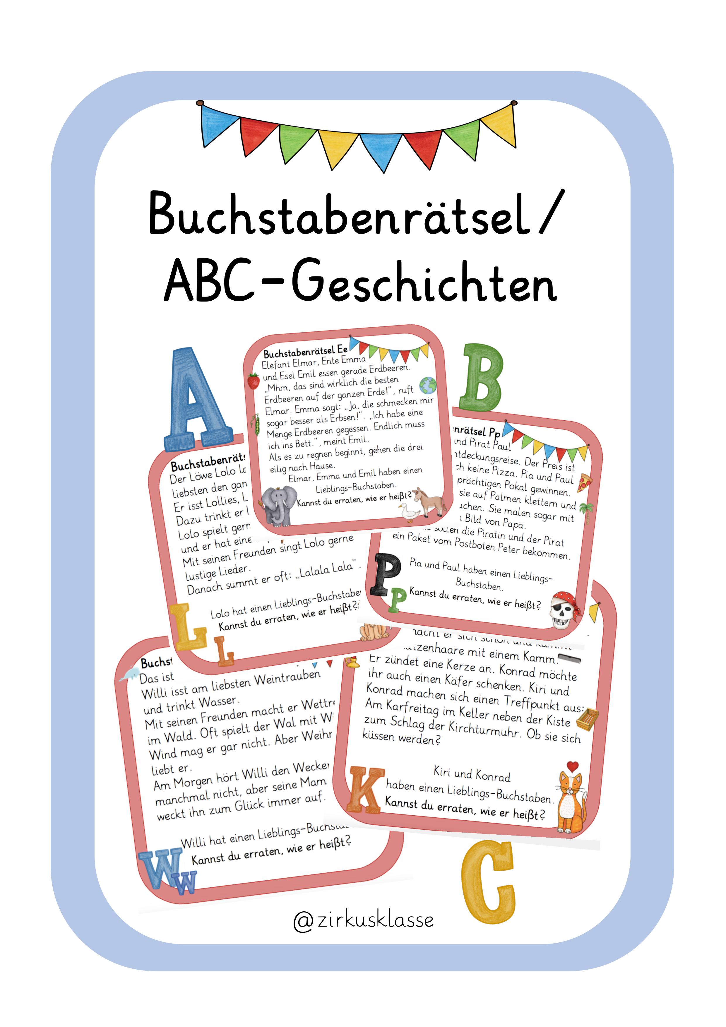 26 Buchstabenratsel Abc Geschichten Bunte Version Lmpkracher2020 Unterrichtsmaterial Im Fach Deutsch Buchstabenratsel Buchstaben Lernen Abc Lernen