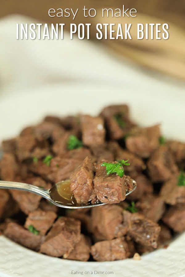 Make Pressure Cooker Steak Bites To Get Dinner On The Table Fast Instant Pot Steak Bite