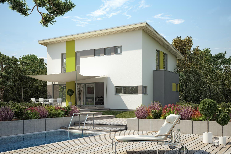 Fertighaus excelent individuelles architektenhaus mit for Modernes wohnen haus
