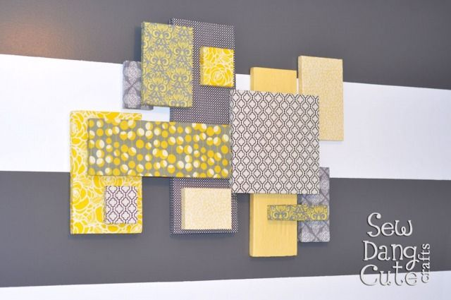 Home Dec Tutorial: DIY Custom Wall Art with Fabric + Foam (It\'s ...