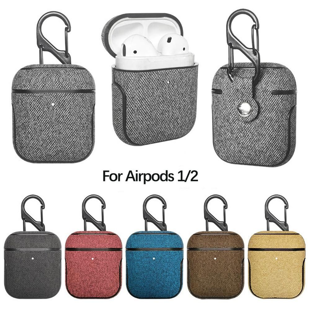 Universal Bluetooth Earphone Leather Case For Apple Airpods 1 2 Leather Case Case Leather