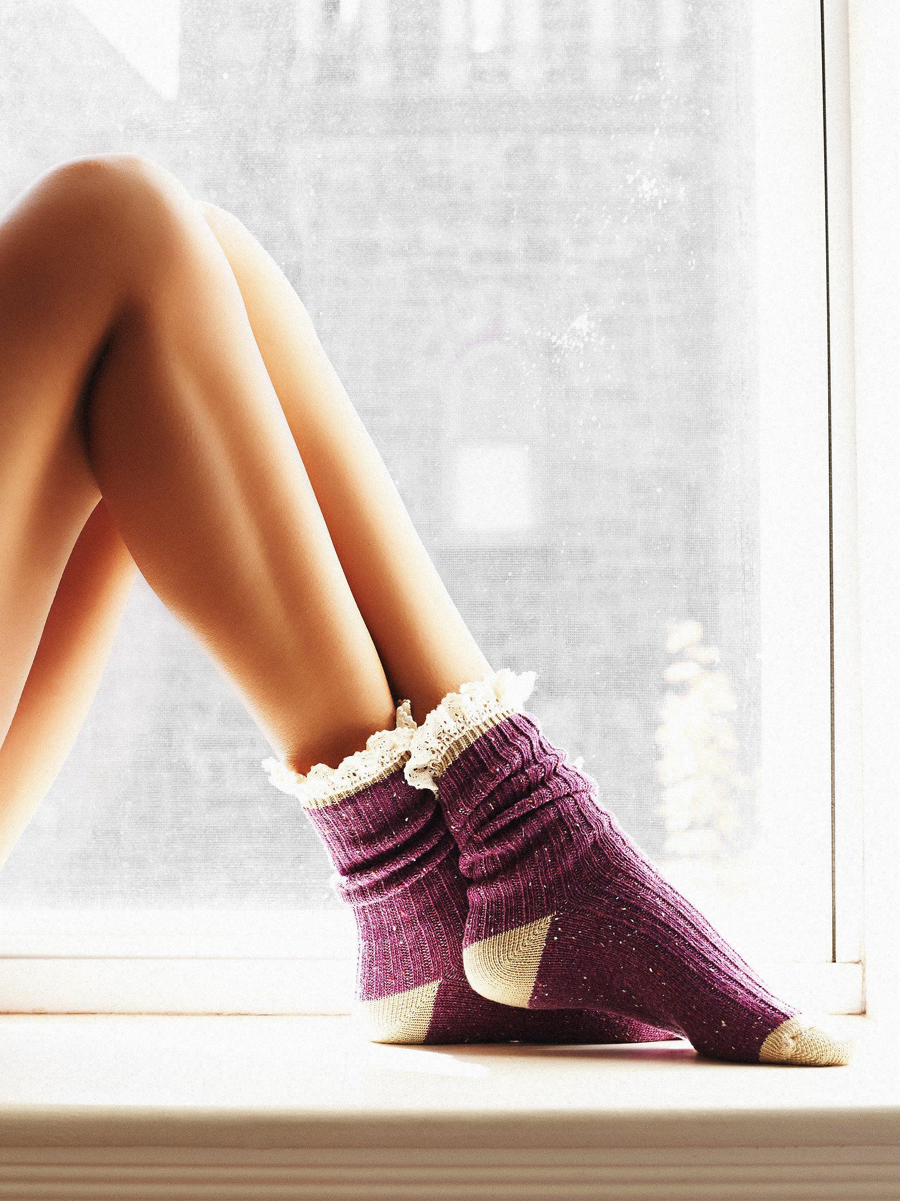 Irreplaceable Speckled Highland Boot Sock //