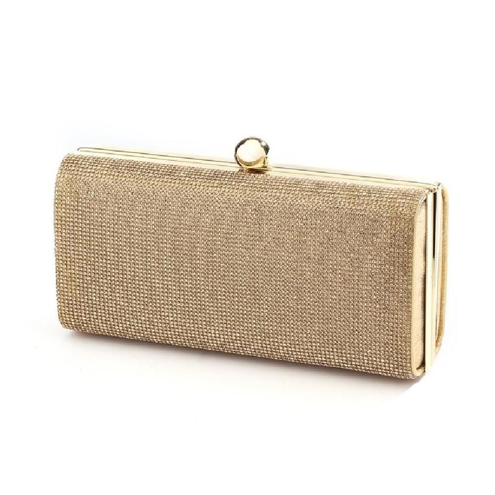 Micropave Crystal Bridal Clutch Evening Bag In Gold Gold Evening Bag Evening Clutch Bag Prom Bag