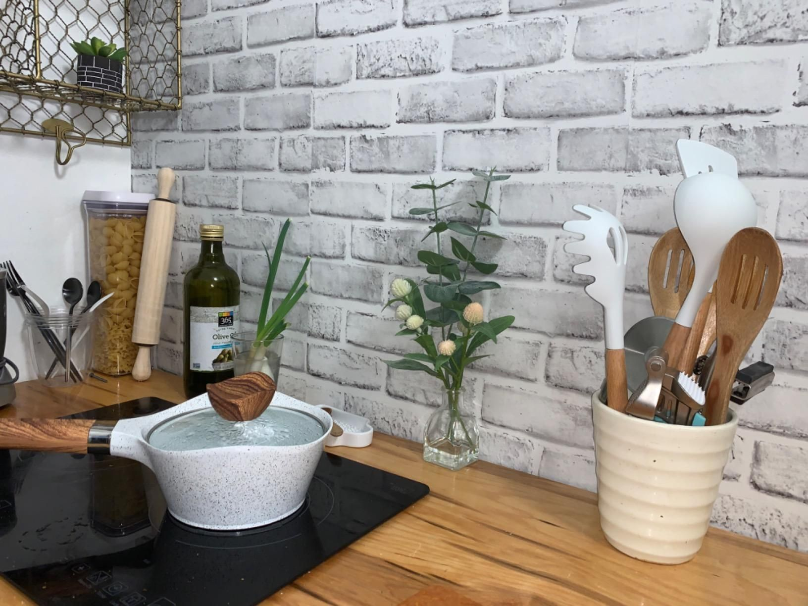 Cohoo Home White Gray Peel And Stick Wallpaper Brick Contact Paper 118 18 Faux 3d Brick Wall Paper Fake Brick Wall Brick Wallpaper Peel And Stick Wallpaper