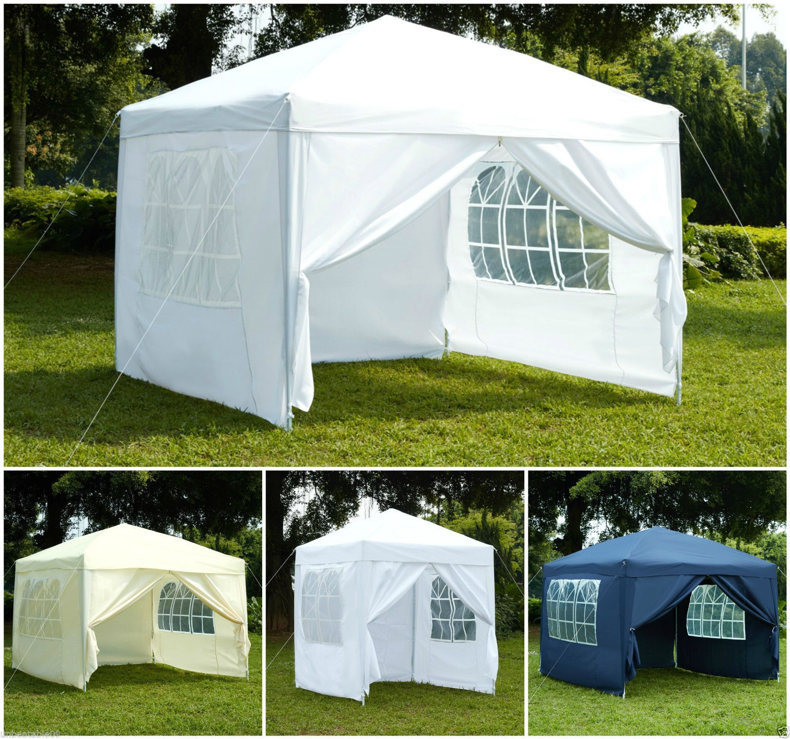 Pop-Up 3x3 2x2 FULLY WATERPROOF Gazebo with Sides and Bag Garden Outdoor Marquee & Pop-Up 3x3 2x2 FULLY WATERPROOF Gazebo with Sides and Bag Garden ...