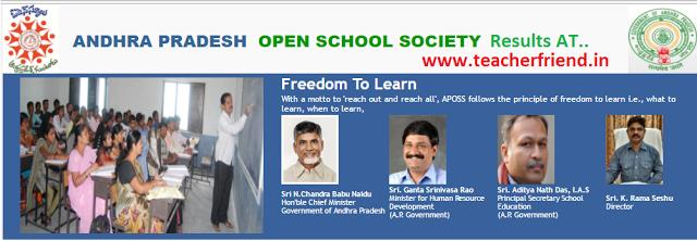 AP open School Society (APOSS-SSC) AP Open SSC April-2017