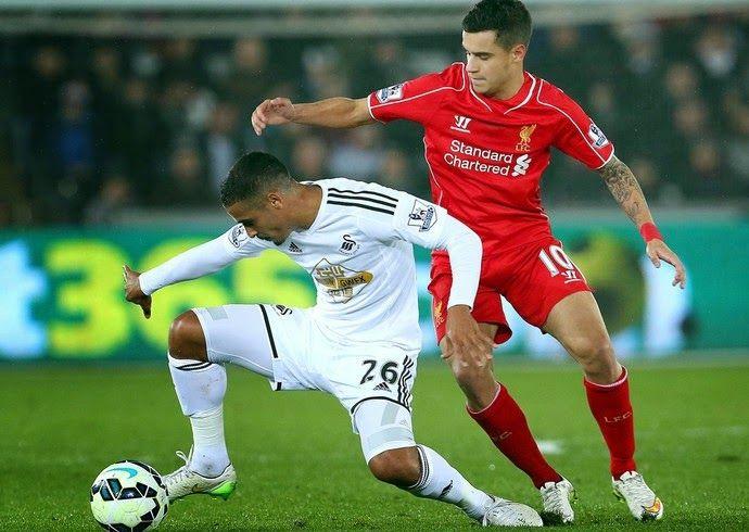 Blog Esportivo do Suíço: Liverpool derrota Swansea e se aproxima do 4º colocado United