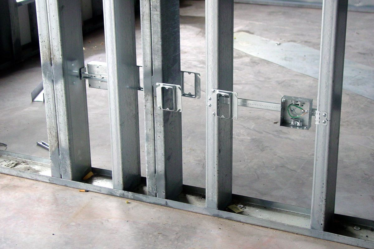 metal stud construction studding stuffing or framing are