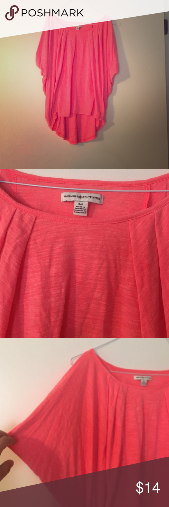 AEO coral cover up top! so cute for the beach! gently used condition size s/p high low American Eagle Outfitters Tops Tank Tops