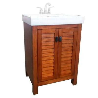 Null Camden 24 Invanity In Pine With Vitreous China Vanity Top New White Bathroom Vanity Home Depot Design Decoration