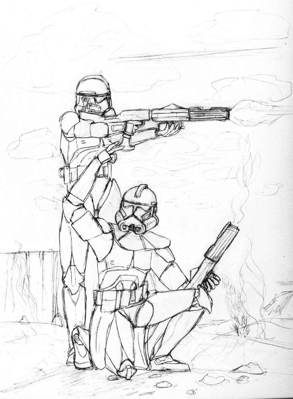 Star Wars Clone Trooper Coloring Page Star Wars Clone Wars Clone Trooper Coloring Pages