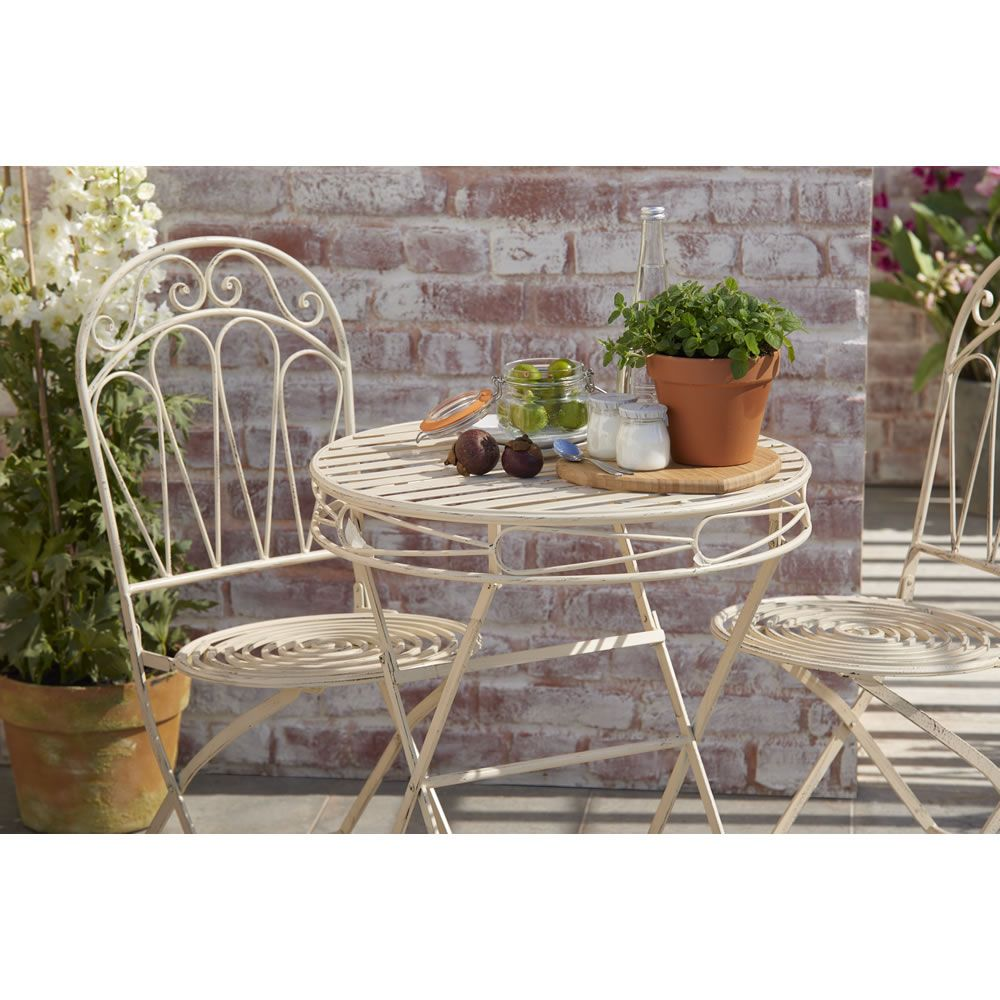 Wilko fsc wooden bistro set at wilko com - Wilko Romance Garden Bistro Set