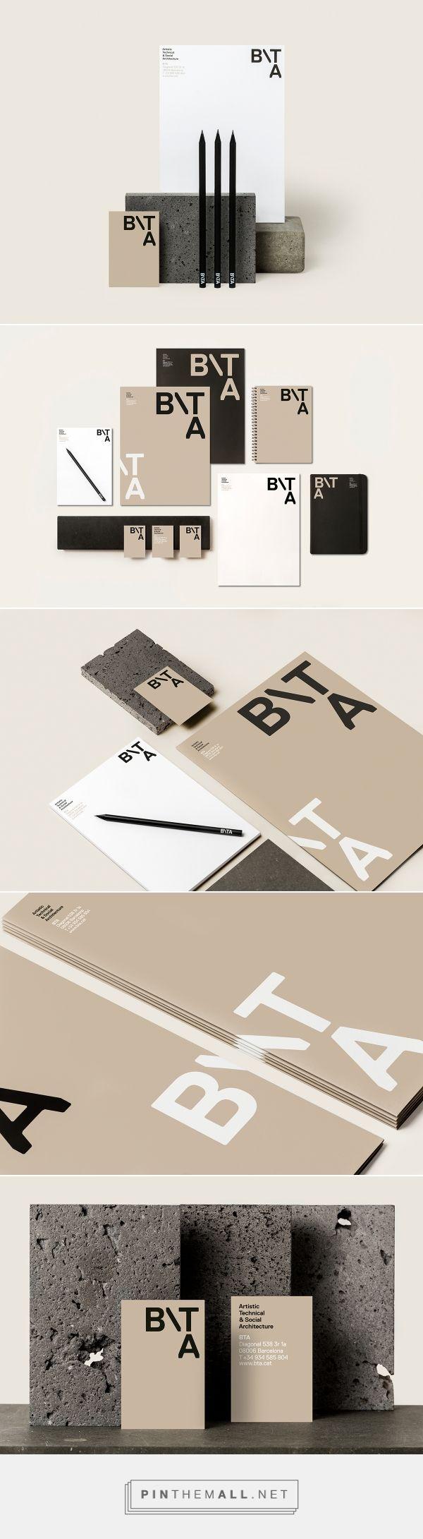 BTA - Architecture studio Branding by Griselda Marti   Fivestar Branding Agency – Design and Branding Agency & Curated Inspiration Gallery