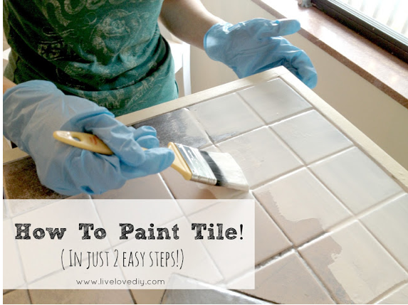 Paint Ceramic Tiles On Pinterest Painting Bathroom Tiles