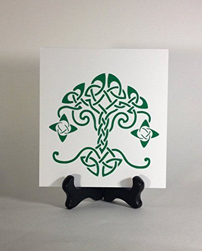 celtic tree of life window decal, yggdrasil bumper sticker, norse