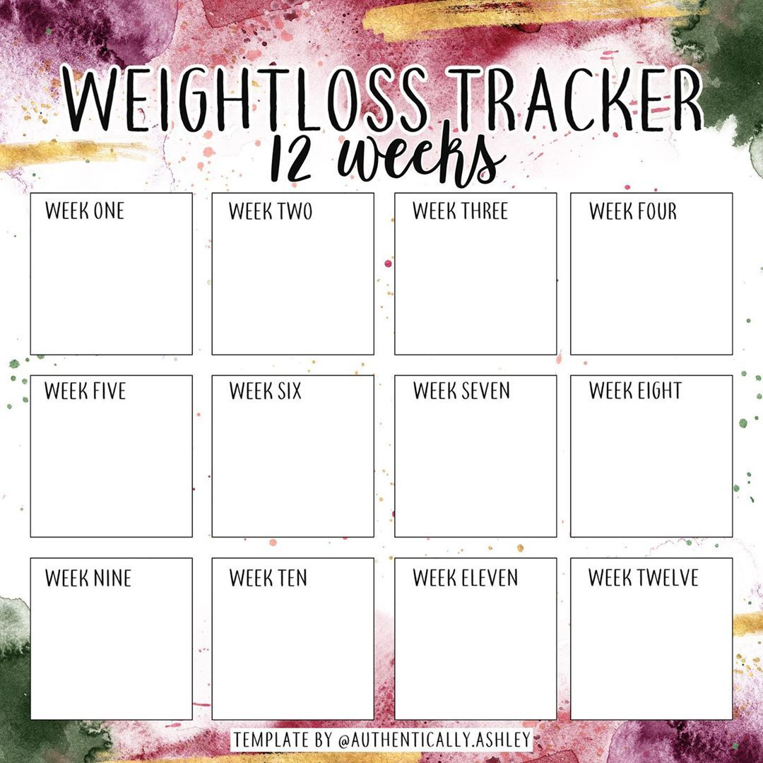 Pin On Weight Loss Tracker Instagram Templates Ww