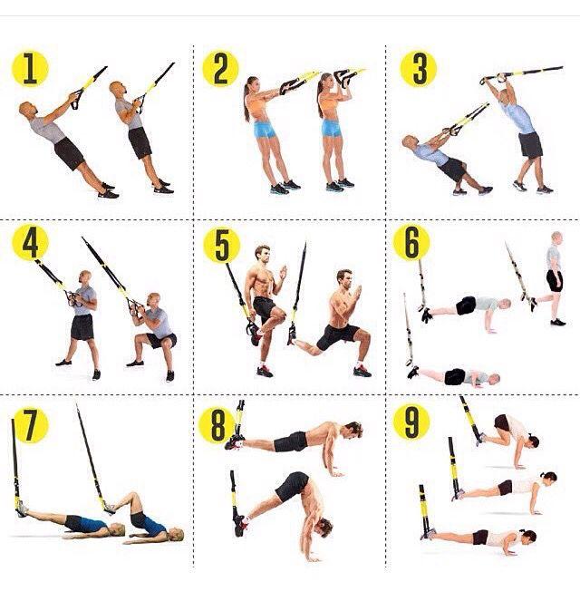 Trx тренировка для похудения схема