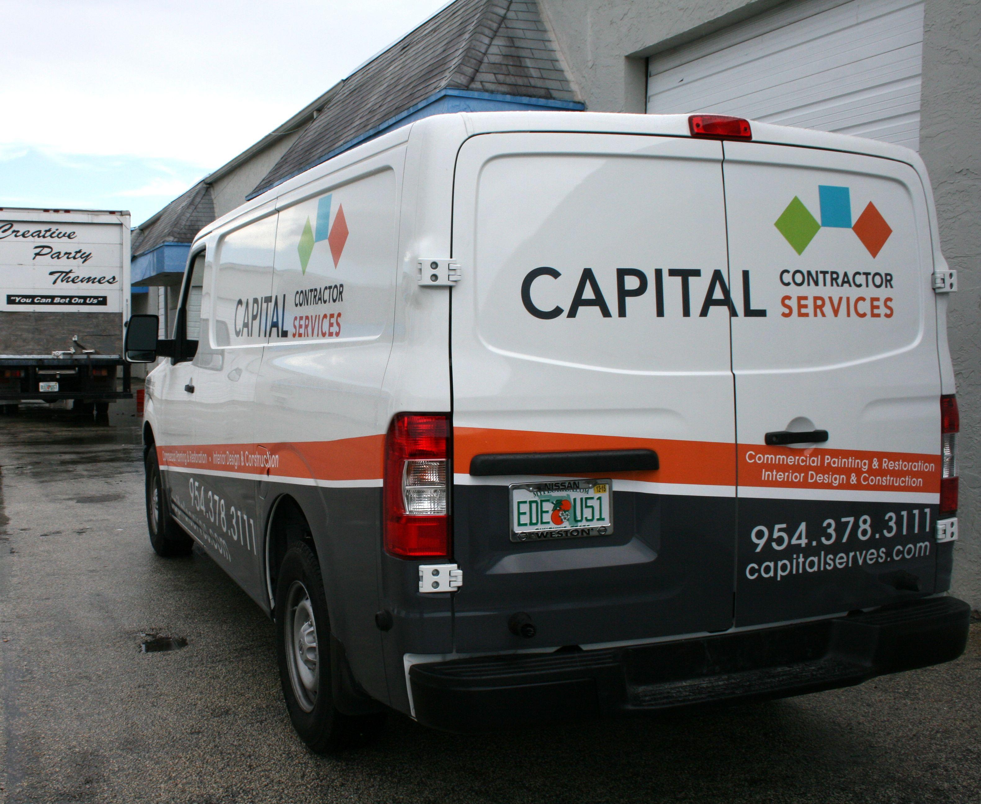 Nissan NV Commercial Cargo Van Vehicle Wrap Miami Florida